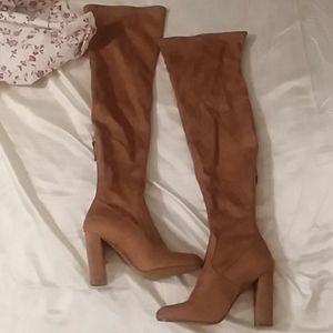 Steve Madden Vintage Knee High Heeled Boots